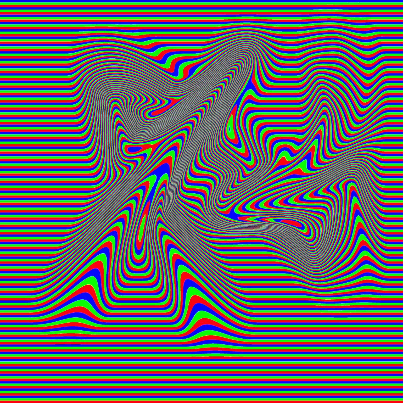 обман зрения цветами реагирует движение