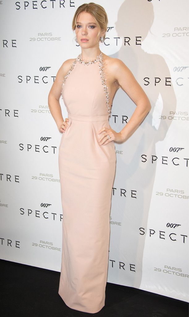 Lea Seydoux from The Best of the Red Carpet  The starlet wows in a peach Miu Miu number at Spectre premiere in Paris.