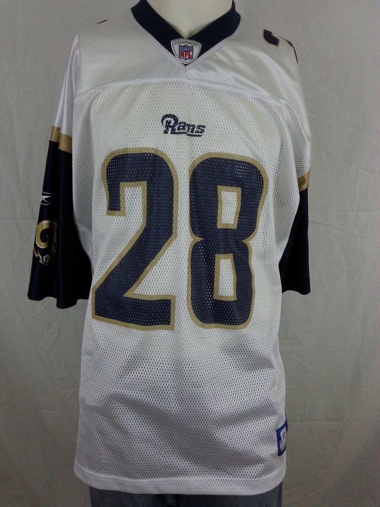 ... Marshall Faulk 28 Football NFL St Louis Rams Jersey San Diego Reebok XL  rams ... e7c386dad