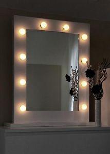 White Illuminated Led Hollywood Make Up Theatre Dressing Room