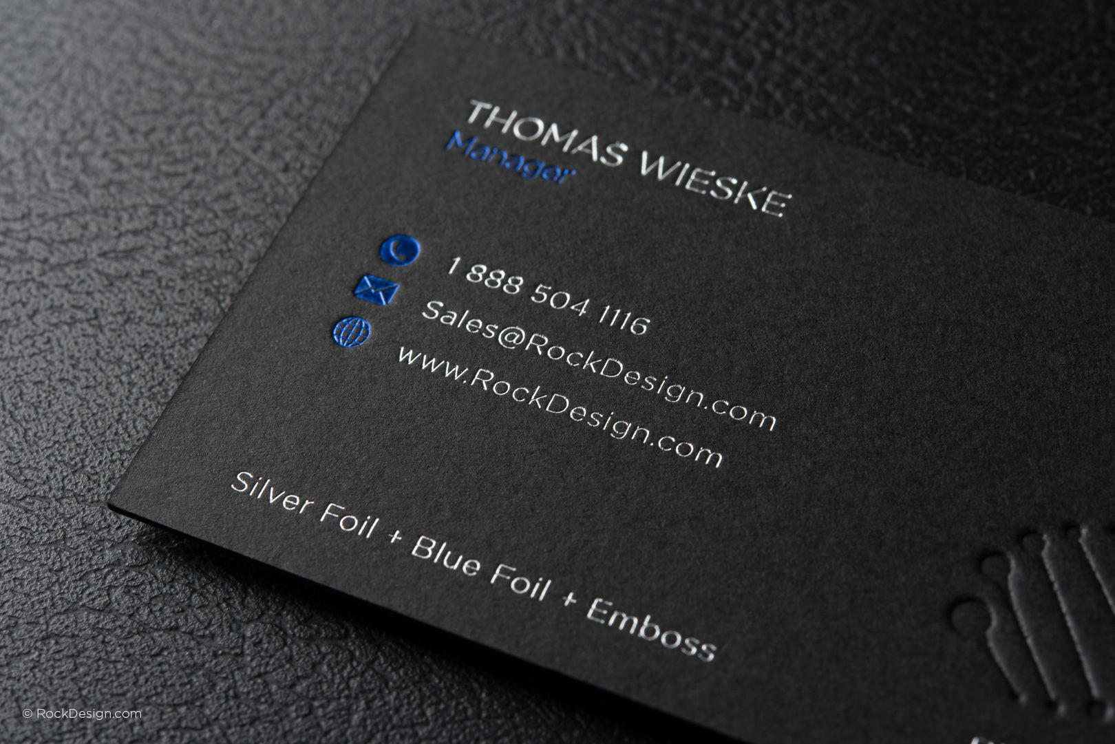 Modern Professional Black Business Card Template With Foil Dna Works Rockdesign Luxury Printing