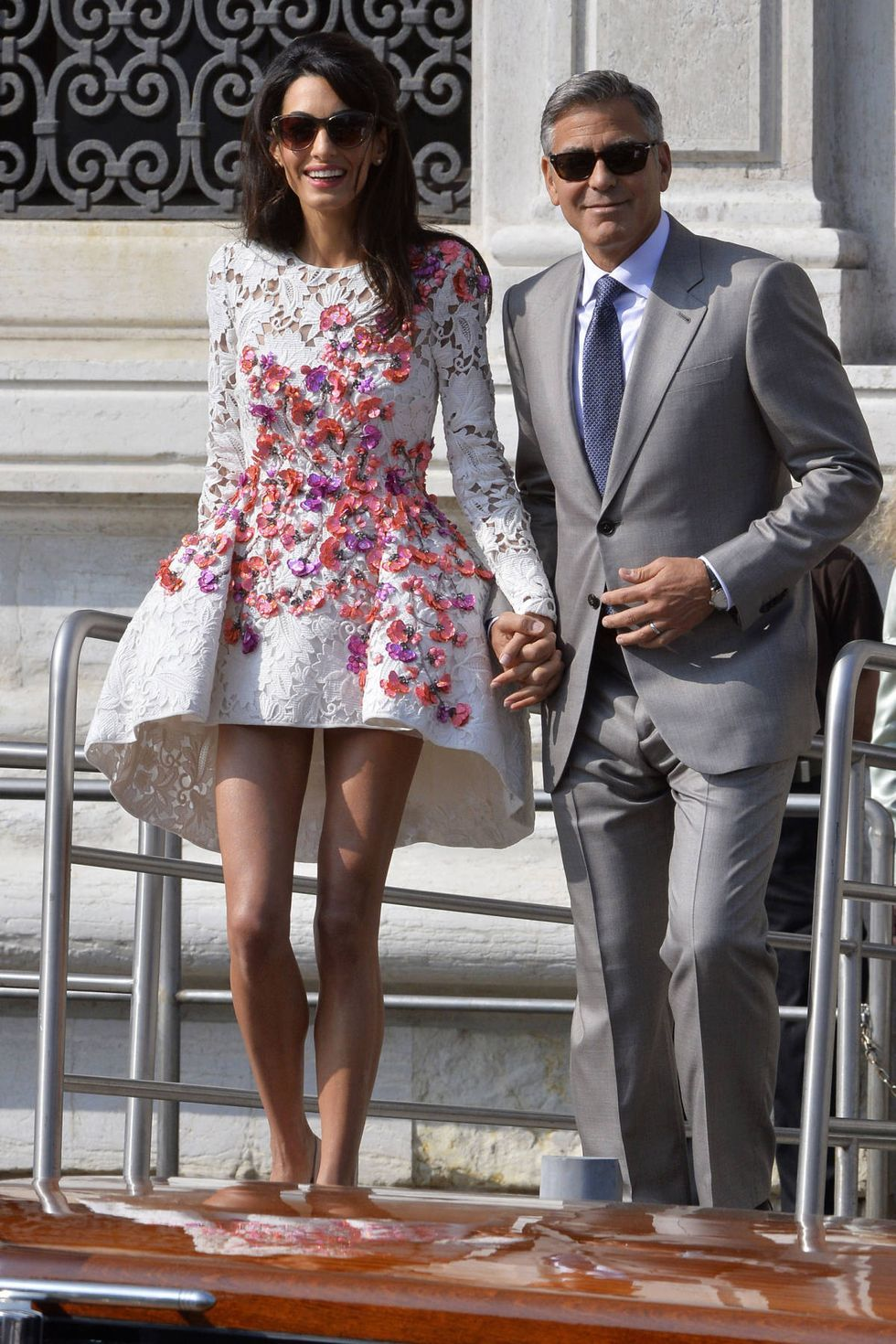 George Amal S Wedding In Pictures In 2020 Fashion Amal Clooney Wedding Amal Clooney