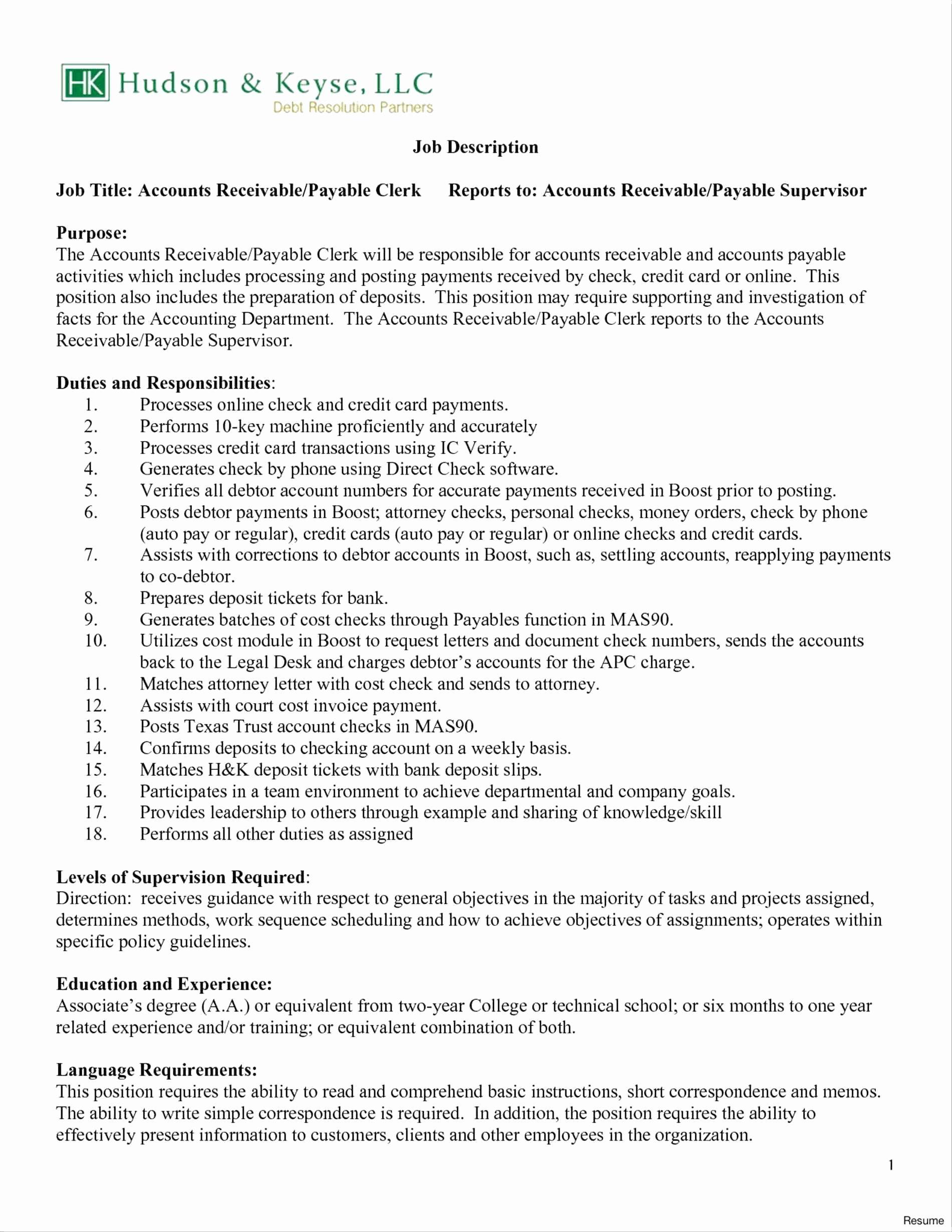 Accounts Payable Specialist Resume Unique 72 Unique Image