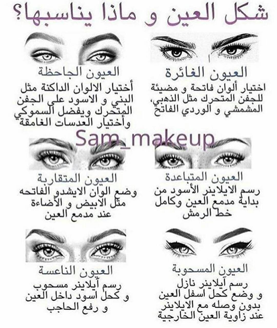 Pin By مريومه Maryomh On شكل العين وماذا يناسبها Pinterest Makeup Eye Makeup Skin Makeup