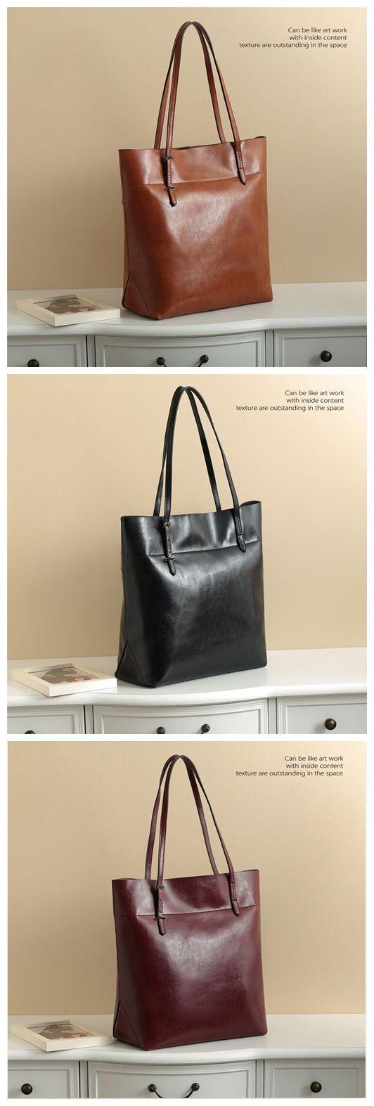 c503bfe8e028 Handmade Genuine Leather Women s Fashion Tote Handbag Shoulder Bag 14149  Overview: Design  Women Fashion Tote Include  Only Handbag Custom  No  Color  ...
