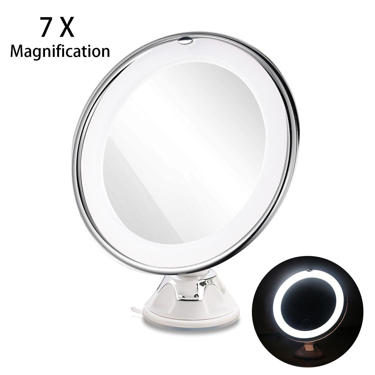 ruimio led 7x vergr erungs kosmetische make up spiegel mit power locking saugnapf bright. Black Bedroom Furniture Sets. Home Design Ideas