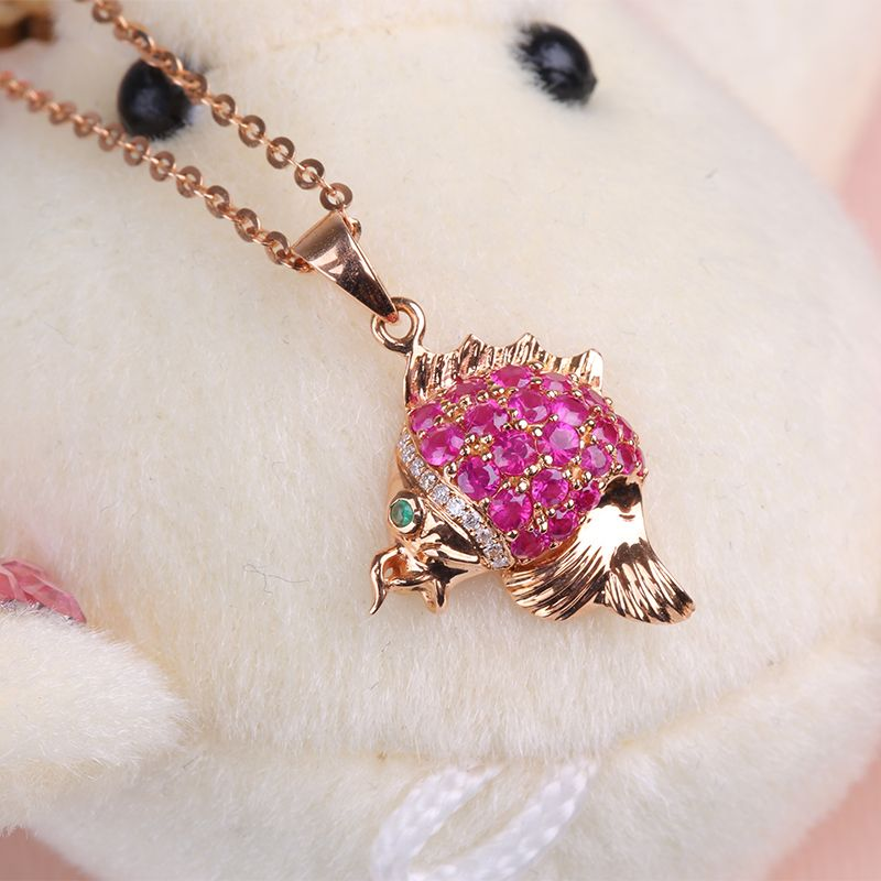 18K Rose Gold Cluster Burmese Ruby and South Africa Diamond Jewelry