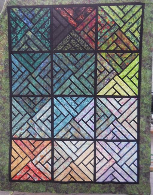 Fractured Paint Box, Quiltworx.com, Made by CI Jodie Madison ... : madison quilt show - Adamdwight.com