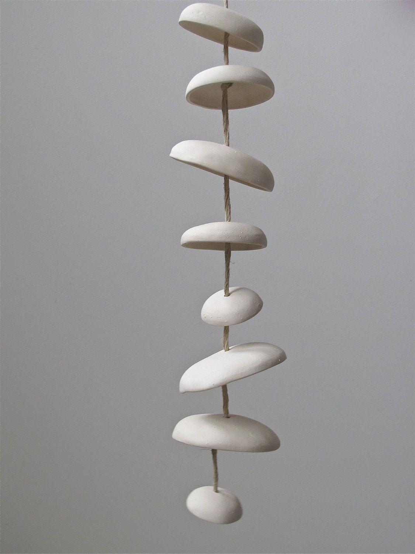 Mudpuppy Moon Chimes Natural Modern Minimalist Hanging