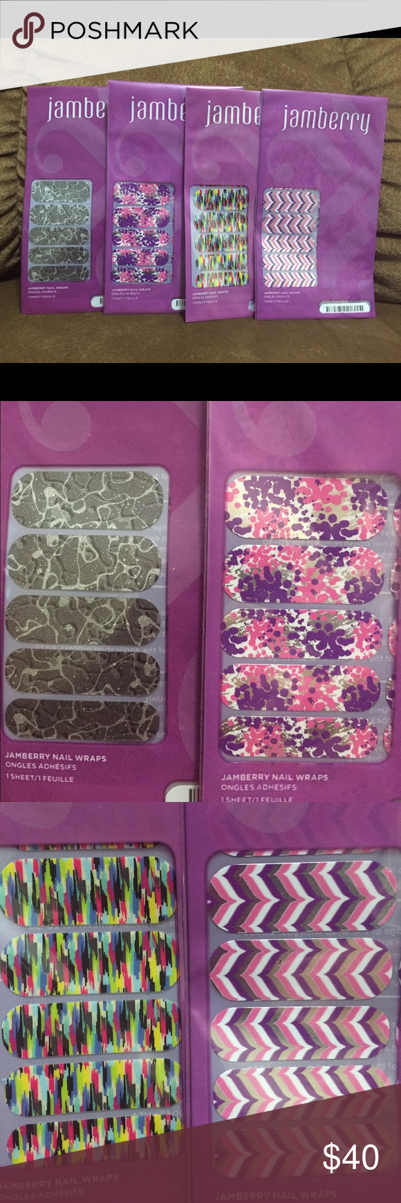 Jamberry nail wraps Jamberry nail wraps, brand new, never used or opened. Smoke free home. Jamberry Other