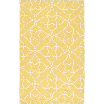 Surya Frontier Sunshine Yellow White Rug Wayfair Geometric Rug