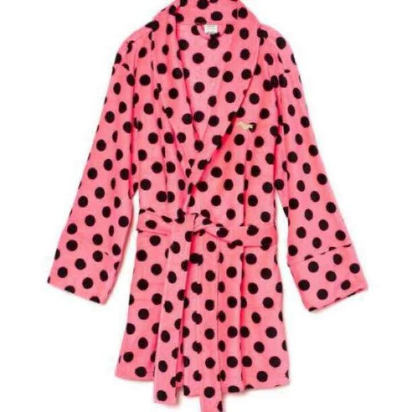 PINK plush robe PINK plush robe  * NEW in bag * size M/ L * super soft , cozy and warm Valued at 49.95 plus tax  #PINK robe PINK Victoria's Secret Intimates & Sleepwear Robes