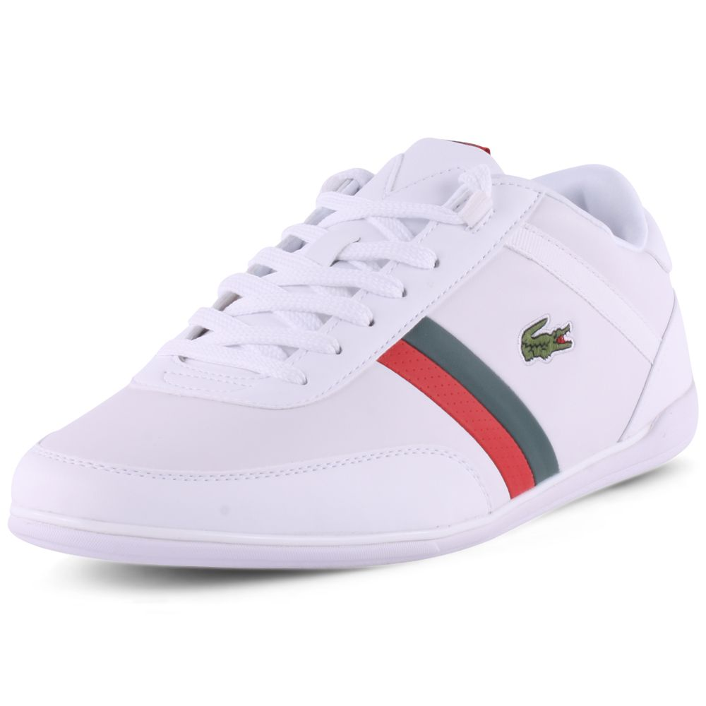 New White Pri Red Mens Leather Trainers Giron Lacoste Shoes Yybfg7I6v