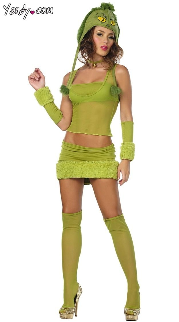 The Grinch... her heart was 2 sizes too small... along with her outfit.  sc 1 st  Pinterest & 21 Sexy Costumes That Defile Our Childhood | Grinch Costumes and ...