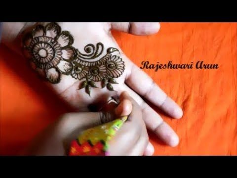Mehndi Art Step By Step : Simple arabic henna mehndi designs for hands