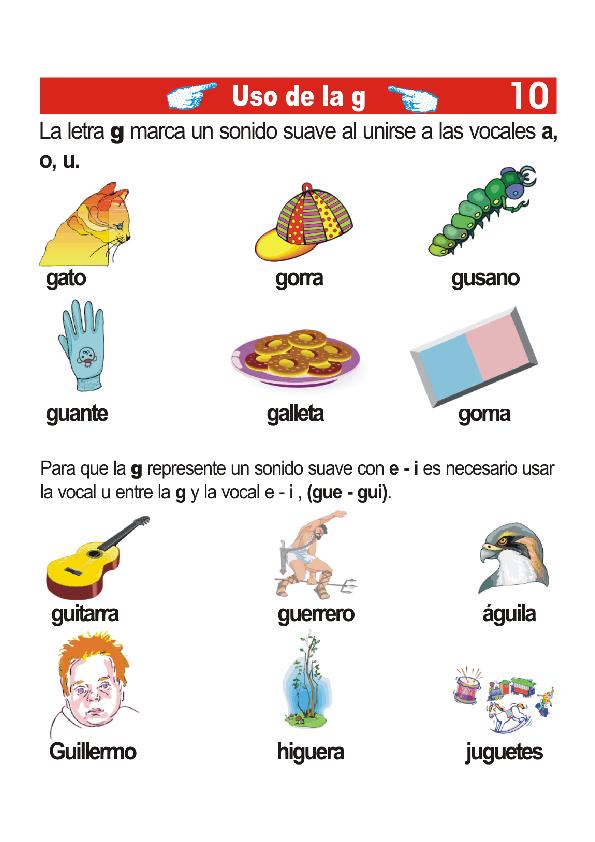 Pin De Kimmie Duff En Teaching Spanish Agudas Llanas Y Esdrujulas Letra G Alfabeto Español