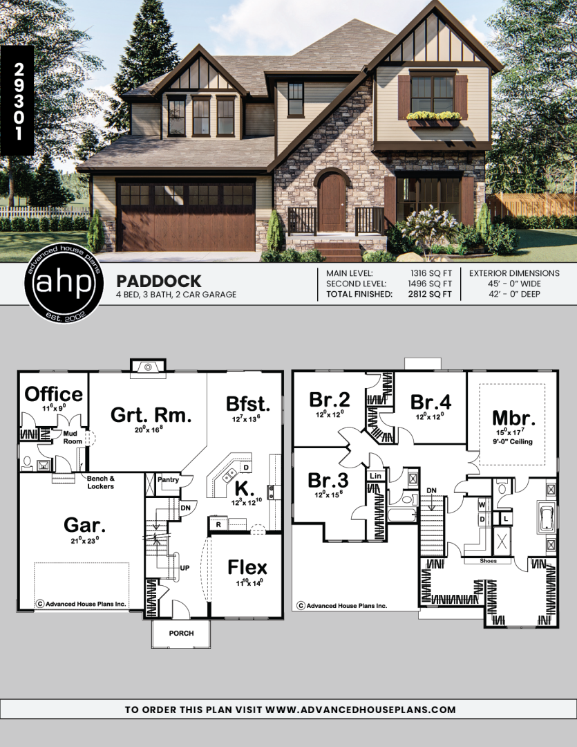 2 Story English Tudor House Plan Paddock In 2020 French House Plans Craftsman House Plans Country Style House Plans