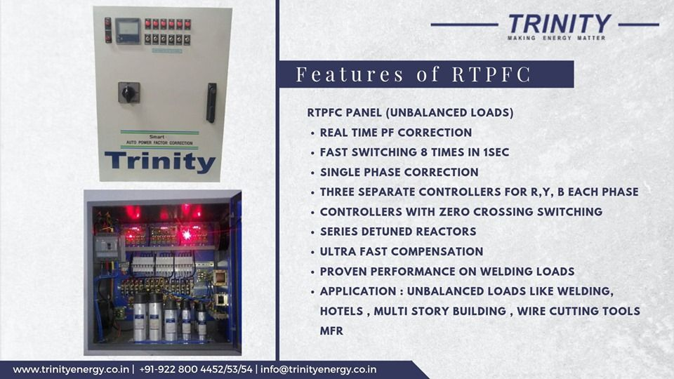 Features Of Real Time Power Factor Correction Panel Http Www Trinityenergy Co In Products Rtpfcp Real Time Energy Management Correction