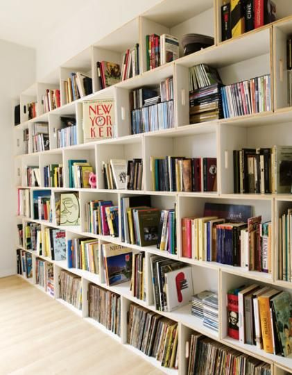 Modular shelving system brick box - Home library shelving system ...