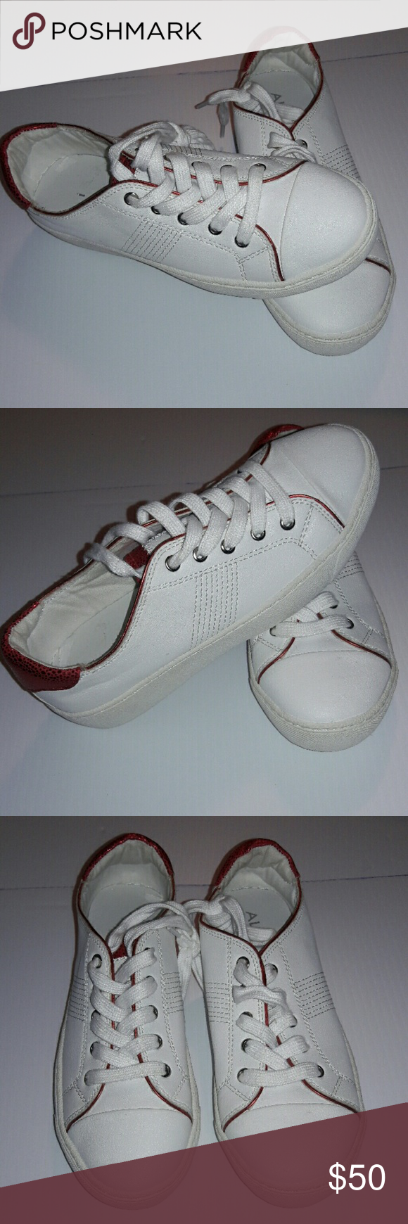 Also white leather platform sneakers new New without tags, no box Aldo Shoes Sneakers