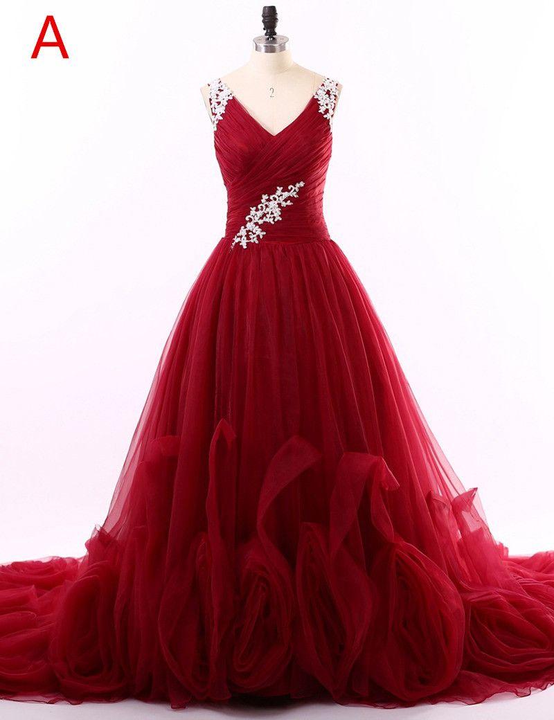 Red prom dresses unique design prom dresses vneck tank prom