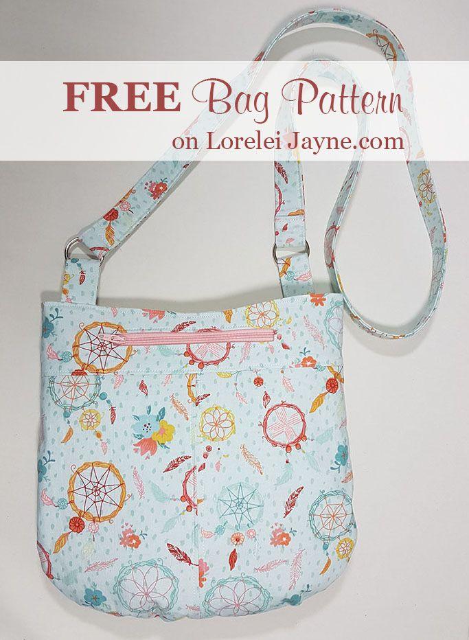 Free Bag sewing pattern, free sewing tutorials | Bag Patterns and ...