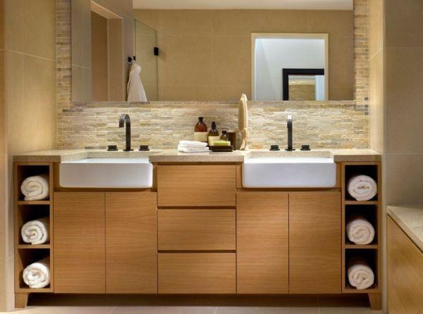 Fancy Display Unit Lends Stylish Sophistication To The Bathroom - Bathroom towel display arrangement ideas