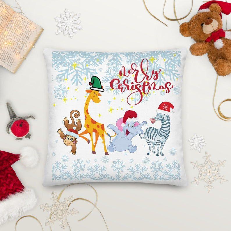 funny animal christmas gift,animal christmas gift, christmas flower with animal Premium Pillow