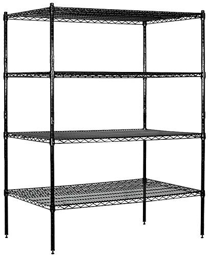 Salsbury Industries Stationary Wire Shelving Unit 48inch Wide By 63inch High By 24inch Deep Black More Info Could Wire Shelving Units Wire Shelving Shelving