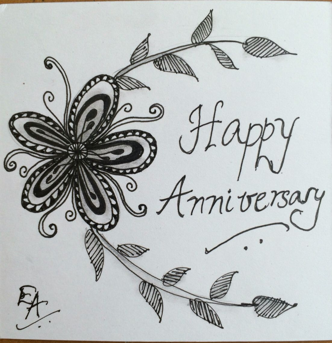 Wish Happy Anniversary With Zentanhle Tile Happy Anniversary Mandala Art Lesson Cards