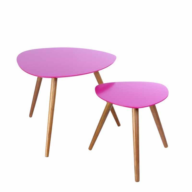 Disponible Sur Sotendance Com Set De 2 Table A Cafe Mileo Rose Avec Images Mobilier De Salon Table Cafe Meuble Deco