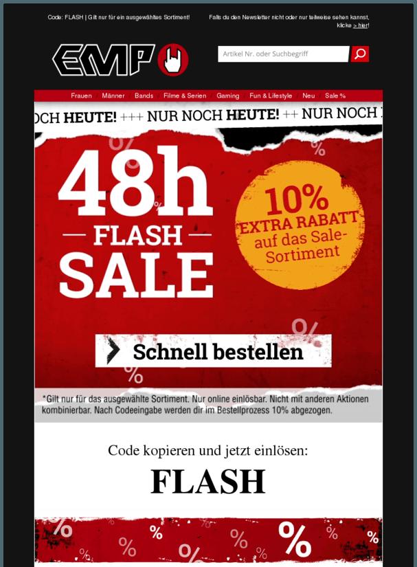 Letzte Chance: Noch 10% Extra Rabatt beim 48h Flash Sale abgreifen!
