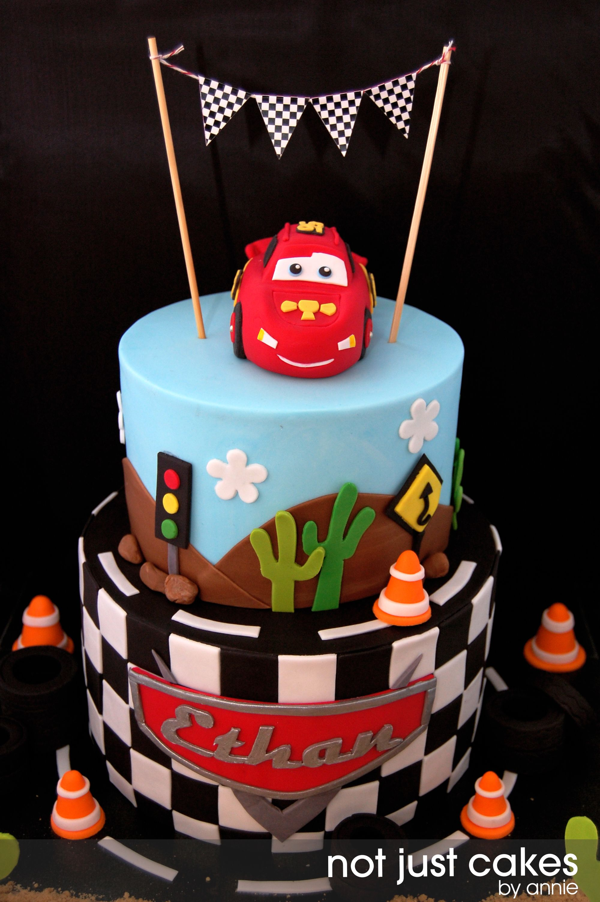 Boy Birthday Cars Theme Cars Themed Cake For Ethan Dessert