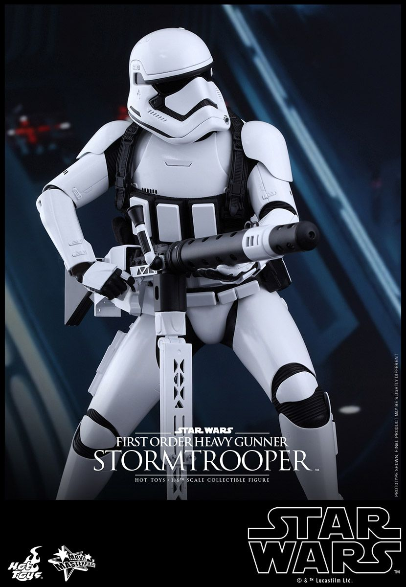 hot toys star wars the force awakens first order heavy gunner stormtrooper star wars the. Black Bedroom Furniture Sets. Home Design Ideas