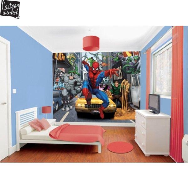 walltastic-mural-posterbehang-behang-slaapkamer-spiderman-marvel ...