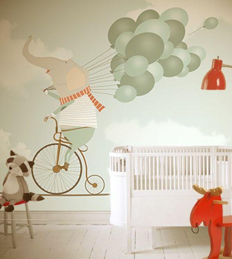 tapeten kinderzimmer passende farben und motive ausw hlen kunst pinterest kinderzimmer. Black Bedroom Furniture Sets. Home Design Ideas