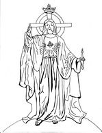 Christ The King Coloring Page Kids Faith Learning Pinterest - Christ-the-king-coloring-page