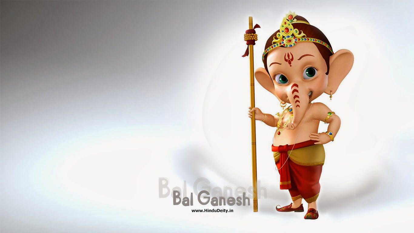 Www Hindu God Wallpaper Com Cute Ganeshji Bal Ganesh Wallpapers For Desktop Cute Bal Ganesha
