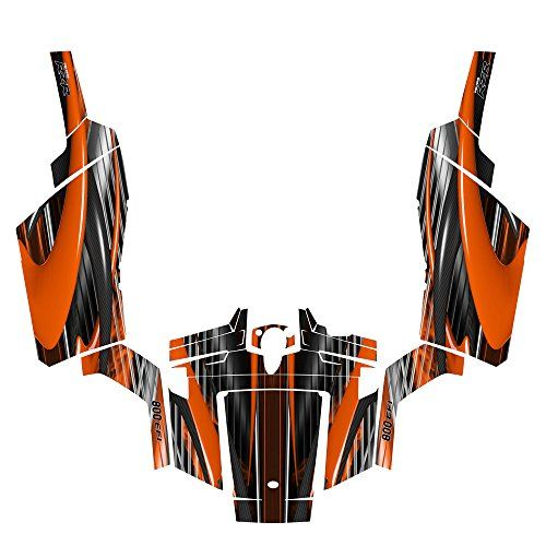 Polaris RZR 800 Graphics Kit 2007 – 2010 with OEM Door Wrap By Allmotorgraphics No3333 Orange