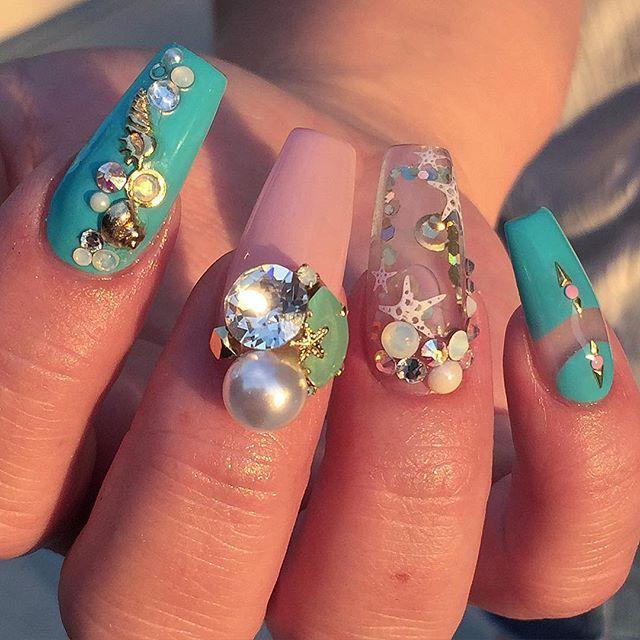 Aquarium Nail Art By Malishka702 Nails Waternails