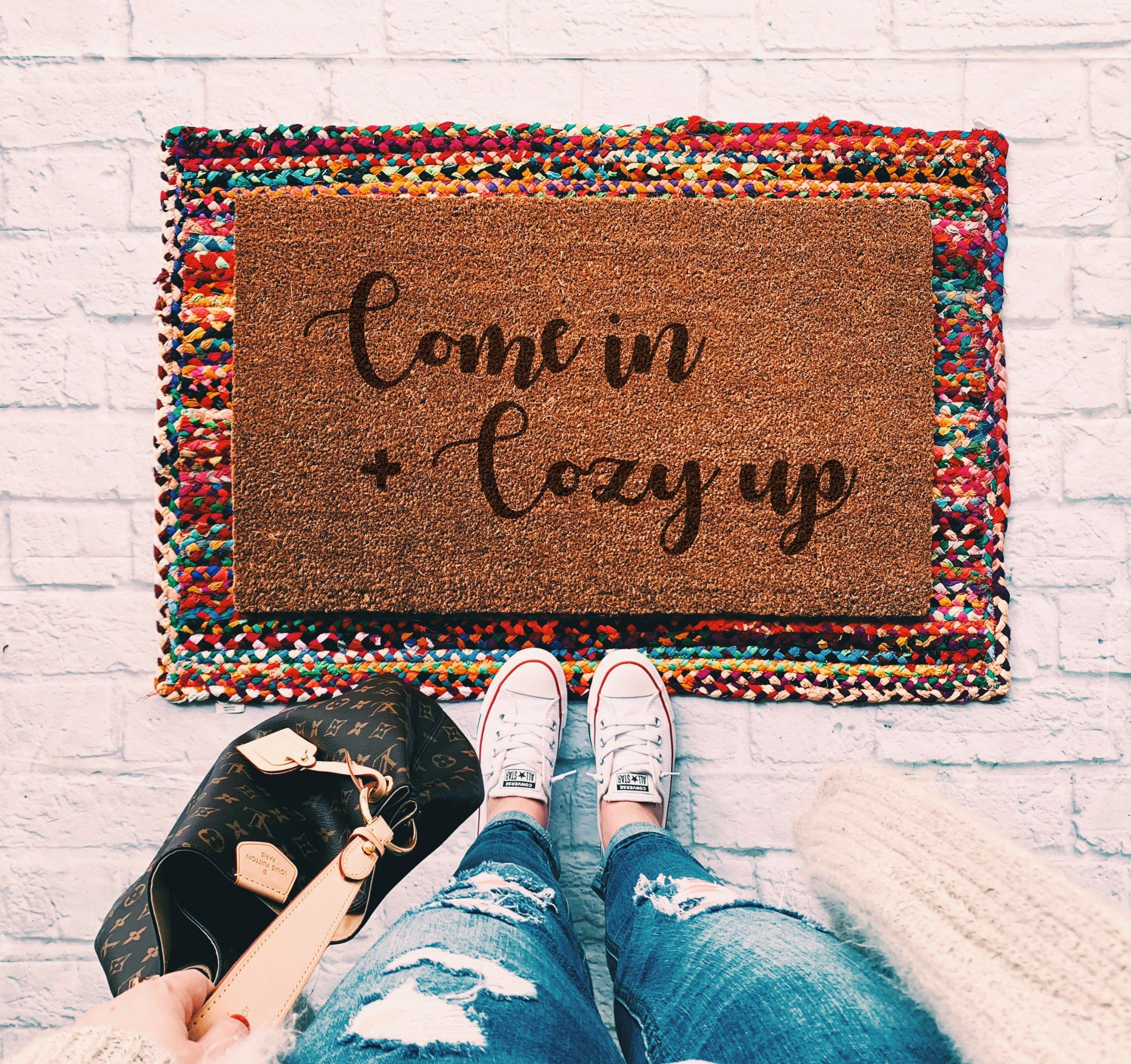 Come Back With Tacos Welcome Mat//Doormat//Rug Welcome Mat  Housewarming Gift