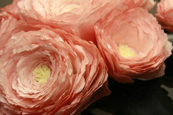How to make coffee filter peonies