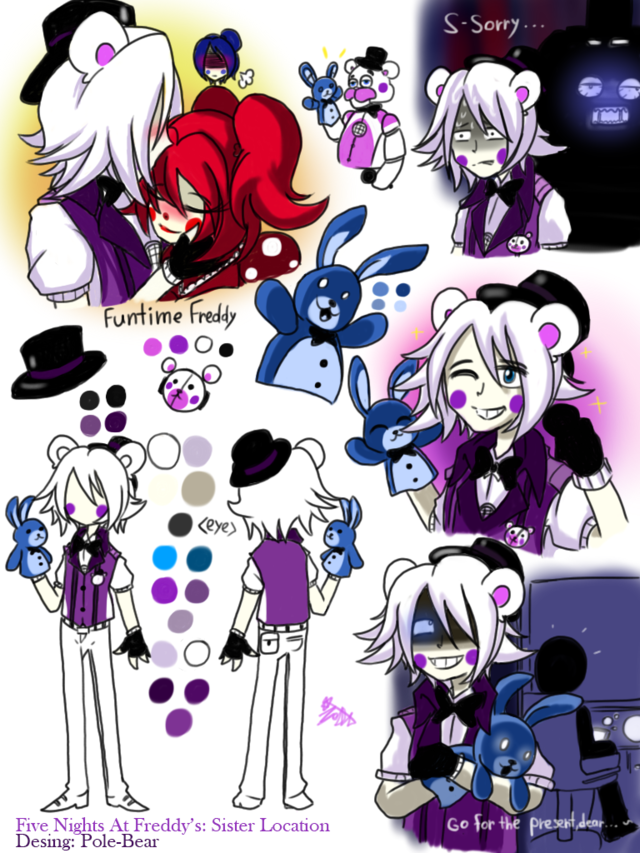 Funtime Freddy Is My Sister Location SENPAI This Art From Polebear Everything Them And I Want To Sponsor