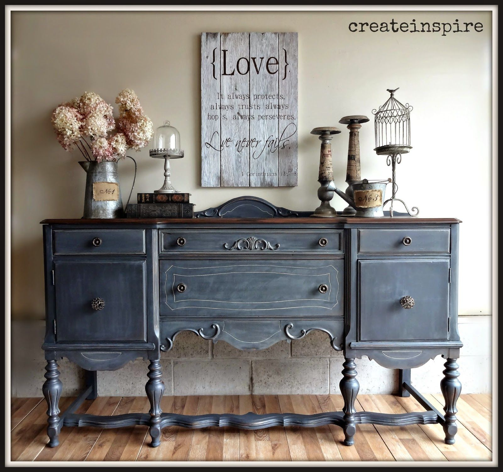 createinspire}: Antique Buffet in Ash (Fusion Mineral Paint ...