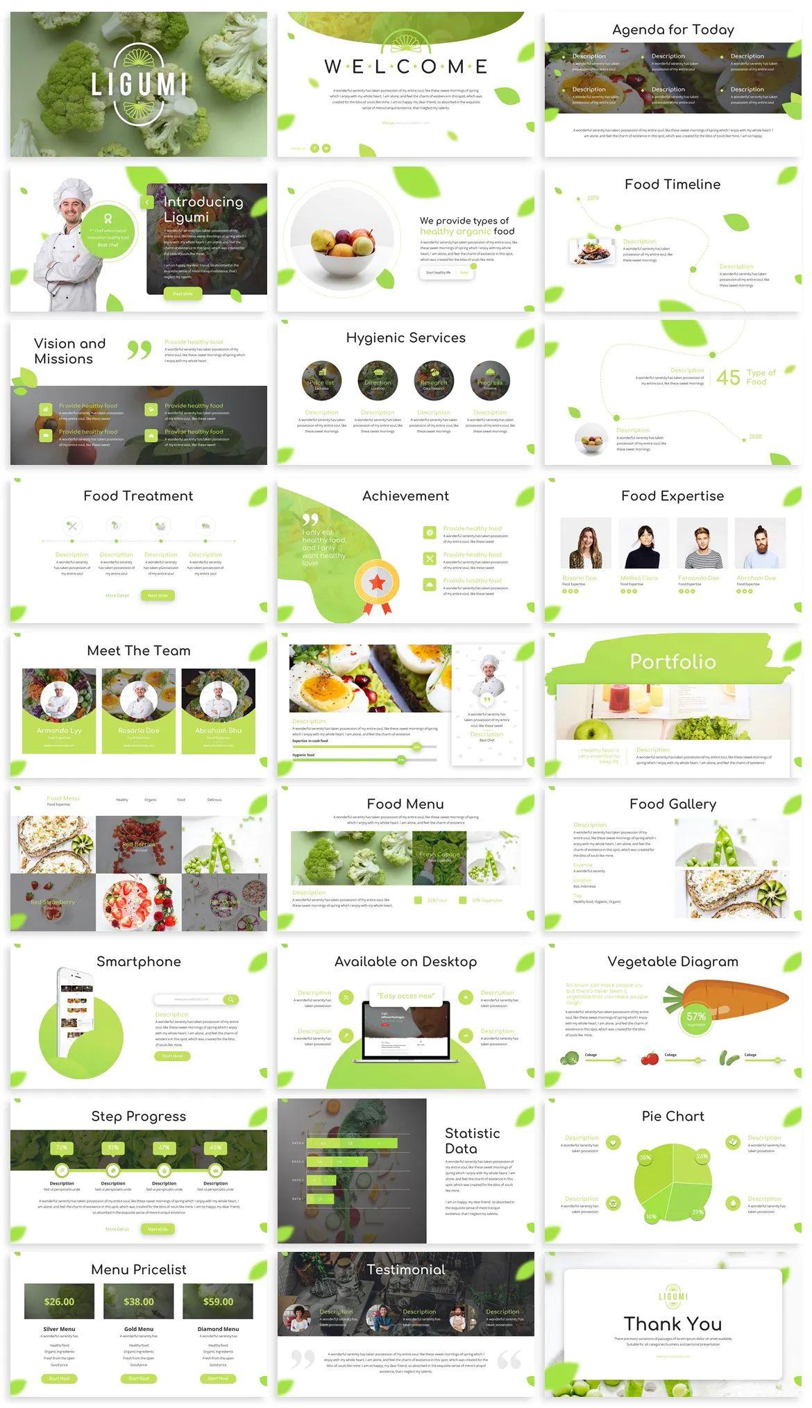 Healthy Food Powerpoint Template Powerpoint Presentation Design