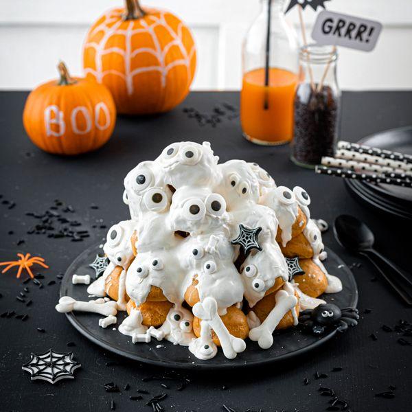 Rezept für die Geisterstunde: Windbeutel mit Augen #halloweenkuchen