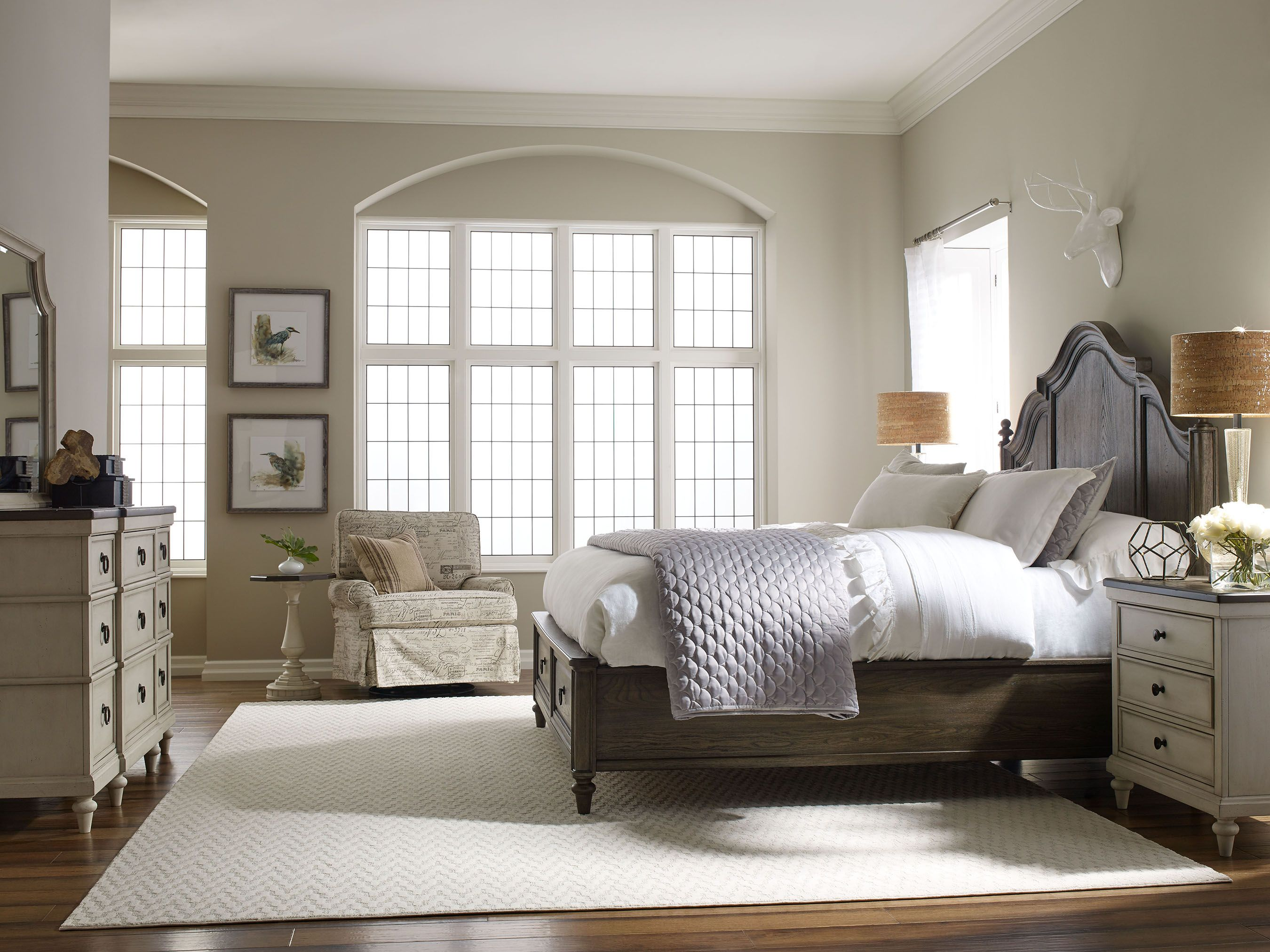Brookhaven Panel Bed in Dark Elm Finish by Legacy