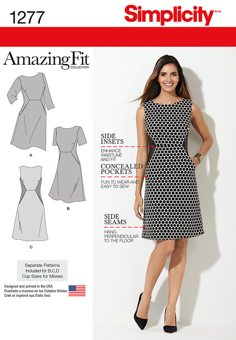 Simplicity Pattern 1277BB 20W - 28W - Misses Dress