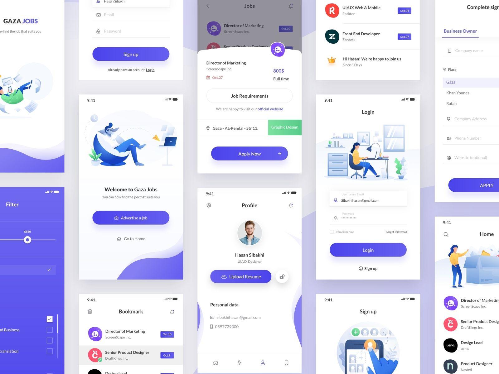 jobs app | android app design, mobile app design, app design