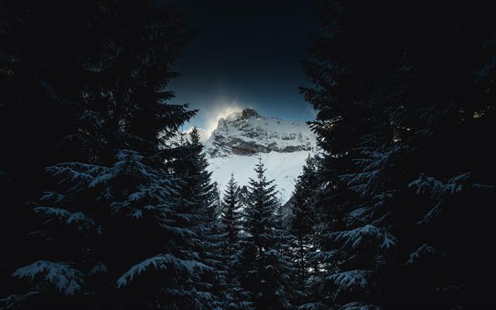 Fondo De Pantalla Paisaje Montañas Nevada: Descargar Fondos De Pantalla Paisaje De Montaña, Cubierto
